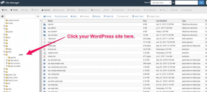 thư mục wordpress