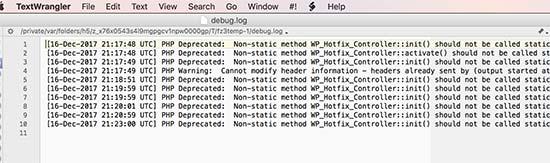 errors php wordpress