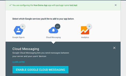 enablecloudmessaging