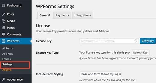 wpforms-licensekey