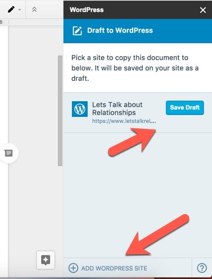 Save-Google-document-to-WordPress-as-draft