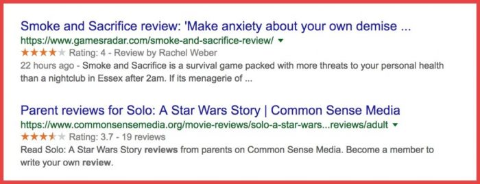 Star-rating-in-Search-engine