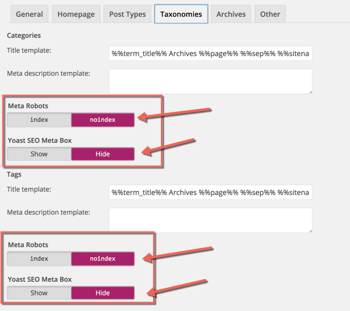 WordPress-Duplicate-content-categories