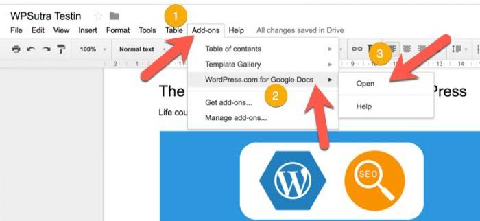 WordPress-for-Google-docs