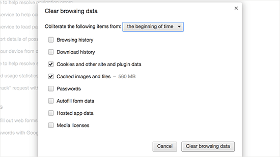 clearbrowsingdata