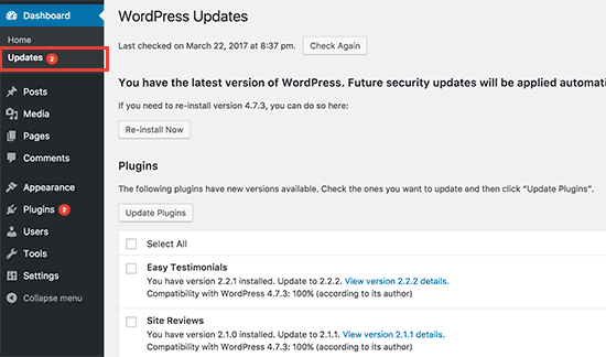 updatespage