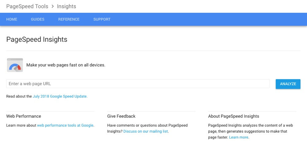 google-pagespeed-insights-performance-tool