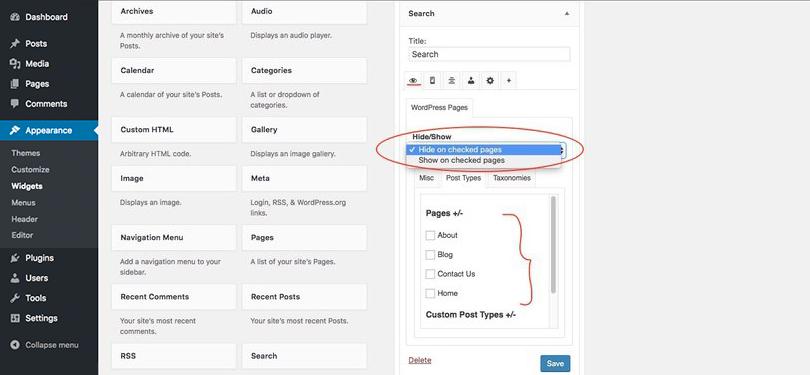 optimize-WordPress-sidebars-hide-show