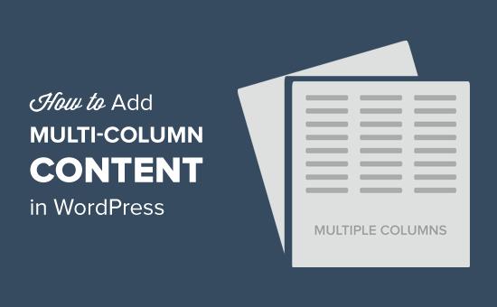 addmulti-columncontentinwordpress