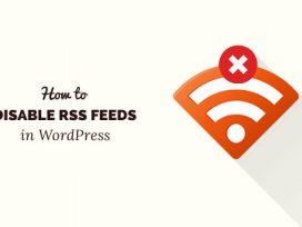 Cách tắt Nguồn cấp RSS trong WordPress